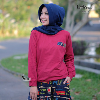 Lexie Blouse Maroon