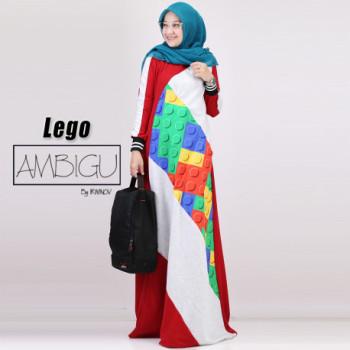 Lego Dress Maroon