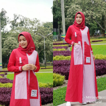 New Abaya Dress Red