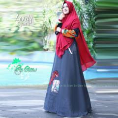 Lovely Set Syari Maroon