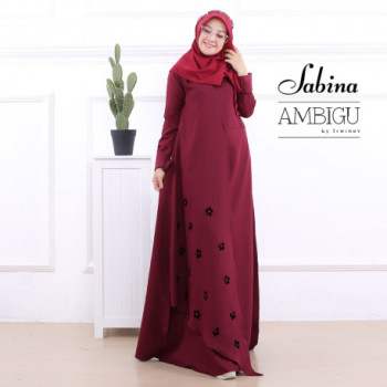 Sabina Dress Maroon