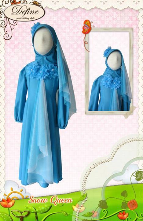 Snow Queen Baju Muslim Gamis Modern