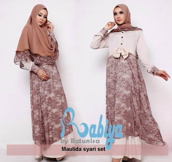 Rabiya Maulida Syar I Baju Muslim Gamis Modern