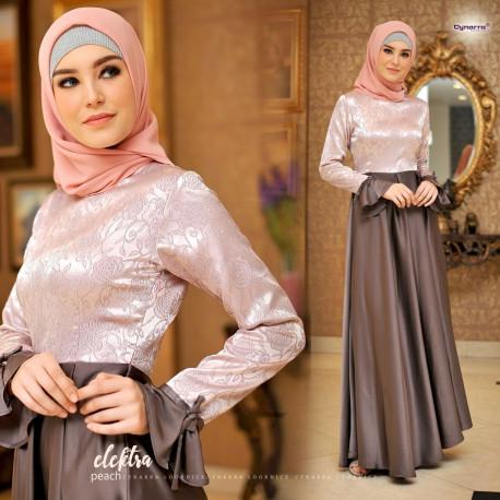 Electra dress by cynarra peach