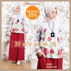 Nevale Grey Maroon