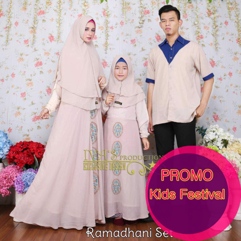 Ramadhani dress kids khaki