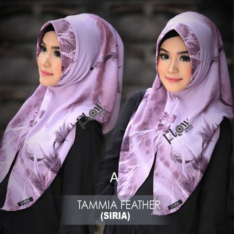 jilbab tammia motif feather A