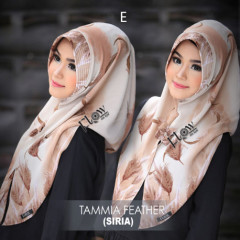 jilbab tammia motif feather E