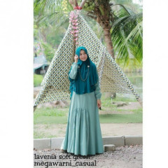 lavenia set syari soft green