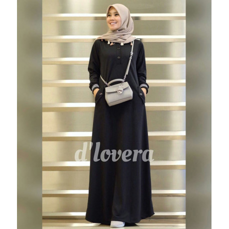 orlin dress by dlovera black