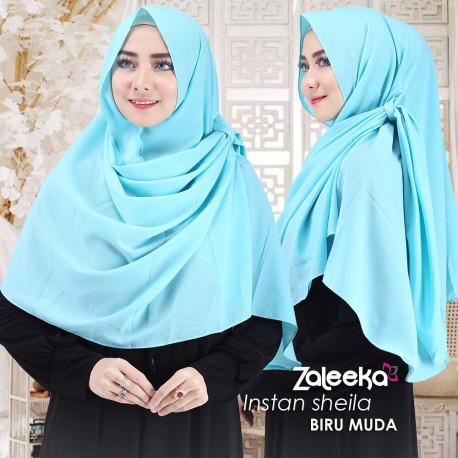 Jilbab Sheila Biru Muda