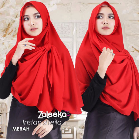 Jilbab Sheila Merah