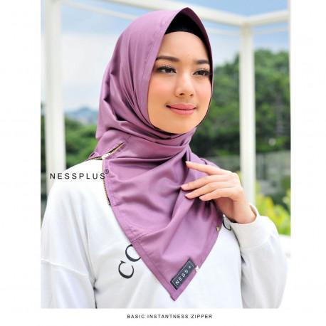 Jilbab Zipper Purple