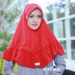 Khimar Salwa Red