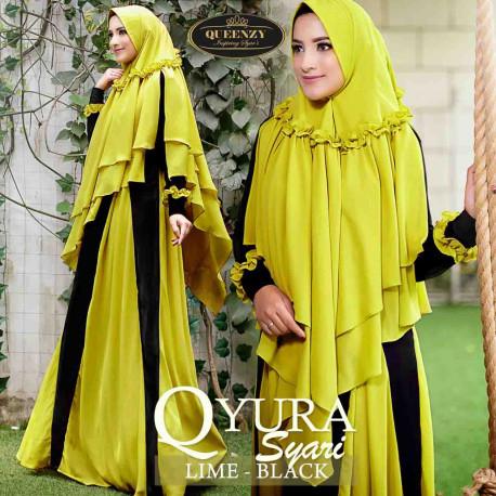 Qyura Syari Lime Black