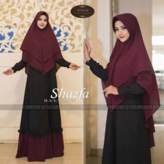 Shazfa by alisya hijab Black maroon