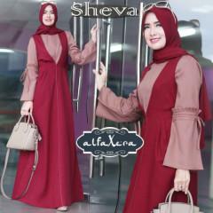 Sheva Dress Maroon