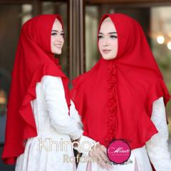 Khimar Rafina Merah