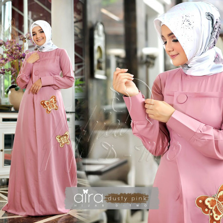Aira Hijab Dusty Pink