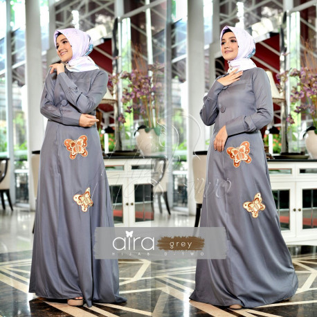 Aira Hijab Grey