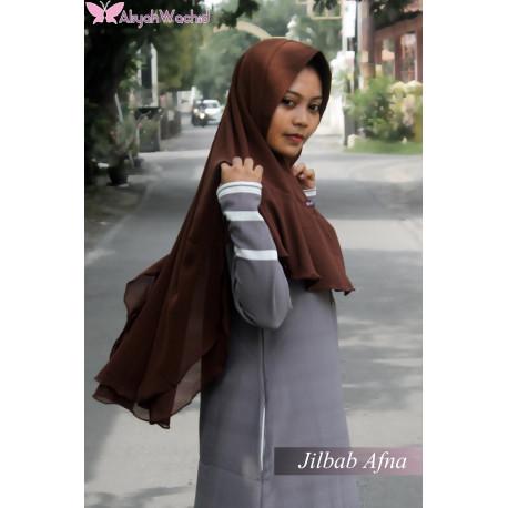 Jilbab Afna Brown