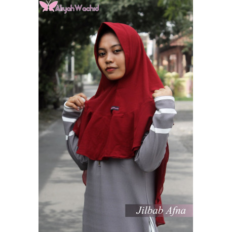 Jilbab Afna Maroon