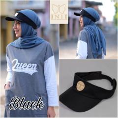 Topi Muslimah Black