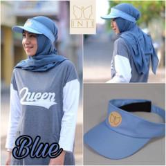 Topi Muslimah Blue