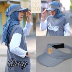 Topi Muslimah Grey