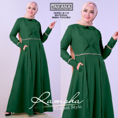 Ramsha Dress Green