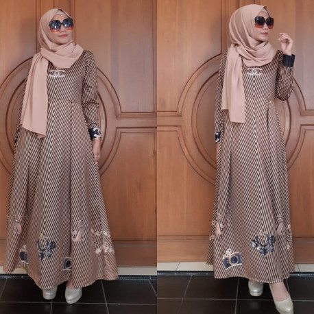 Gamis Chanel Brown