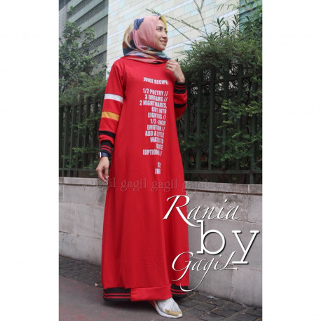 Rania Dress Red