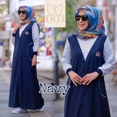 Luna Dress Navy