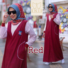 Luna Dress Red