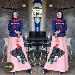 Setelan Chanel Pink