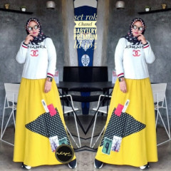 Setelan Chanel Yellow