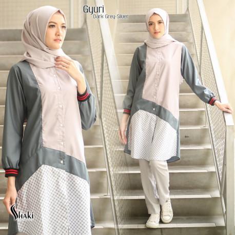 Gyuri Tunik Grey Silver