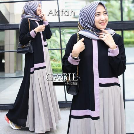 Afikah Dress Grey