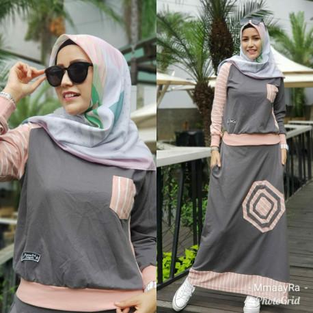 Beyza Dress Grey