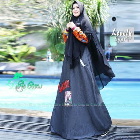 Lovely Set Syari Black