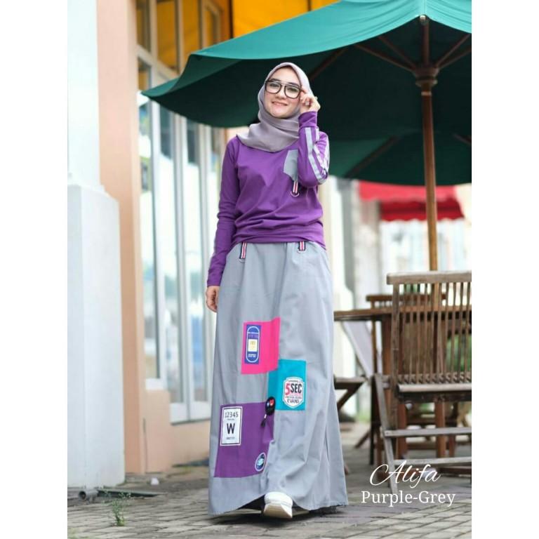 Alifa by Adhadia Purple Grey
