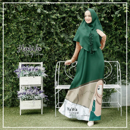 Hawa Dress Green