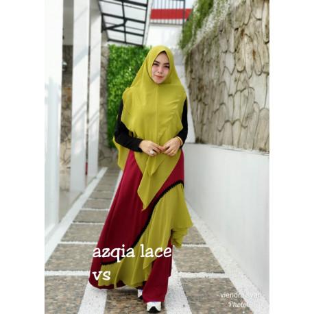 Azqia Lime Maroon