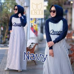 Queen Dress Navy