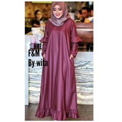 Hilya Dress Maroon