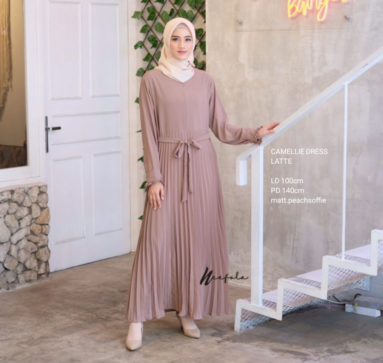 Camellie Dress Warna Latte