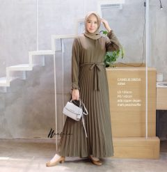 Camellie Dress Warna Army