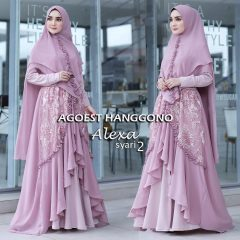 alexa 2 syar'i warna dusty purple