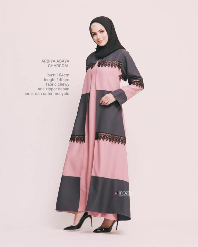 Arbiya Abaya Warna Charcoal