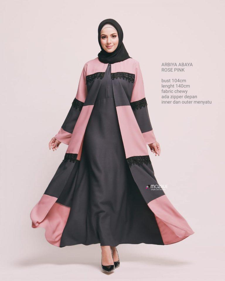 Arbiya Abaya Warna Pink